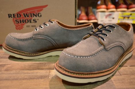 【9D 箱付 良品】レッドウィング 8102 スエード オックスフォード ブーツ ダーク チャコール アビレーン 短靴 11年製 redwing HOPESMORE