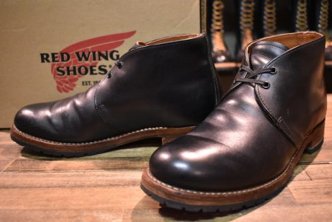 【9D 箱付 良品】レッドウィング 9024 ベックマン チャッカ ブーツ ブラック 黒 11年製 redwing HOPESMORE