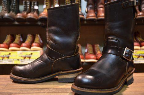【6D 良品 PT91プリントタグ】レッドウィング 2268 エンジニア ブーツ 黒 ブラック クローム スチールトゥ redwing HOPESMORE