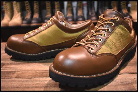 【良品 白タグ】Danner ダナーライト3 LOW ロー 33227 茶 ブラウン ゴアテックス GORE-TEX 8.5EE 短靴 HOPESMORE