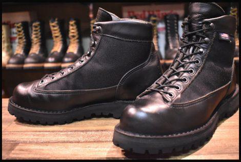 【9EE 良品 白タグ】Danner ダナーライト ブラック ブーツ 黒 31400X ゴアテックス GORE-TEX HOPESMORE