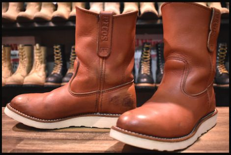 【6D 良品】レッドウィング 8866 ペコス ブーツ 赤茶 オロラセット 07年製 redwing pecos HOPESMORE