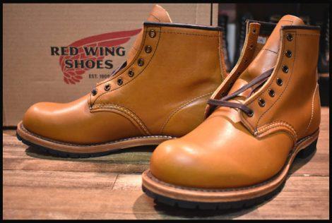 【箱付 未使用】レッドウィング 9013 ベックマン ブーツ チェスナット フェザーストーン 茶 プレーントゥ 16年製 7.5D redwing HOPESMORE