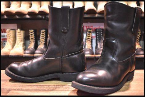 【中古】レッドウィング 1180 ペコス ブーツ 黒 ブラッククローム 02年製 7.5E redwing pecos HOPESMORE