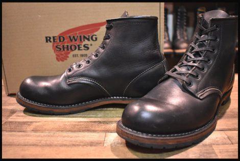 【箱付 良品】レッドウィング 9014 ベックマン ブーツ 黒 ブラック フェザーストーン プレーントゥ 12年製 8D redwing HOPESMORE