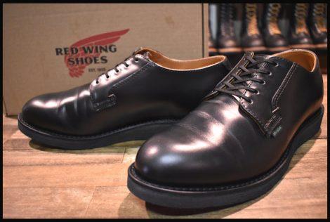 【9.5D 箱付 美品】レッドウィング 101 ポストマン シューズ ブーツ 黒 ブラック シャパラル 短靴 18年製 redwing HOPESMORE
