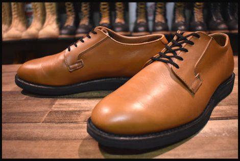 【9.5D 良品】レッドウィング 9108 ポストマン シューズ ブーツ タン マウンテニア 茶 オックスフォード 短靴 11年製 redwing HOPESMORE
