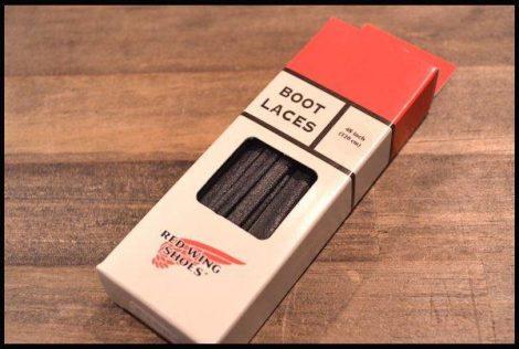 【レッドウィング純正】48 フラット・ワックスド・ブーツレース シューレース 黒 ブラック ベックマン用 靴紐 紐 redwing HOPESMORE