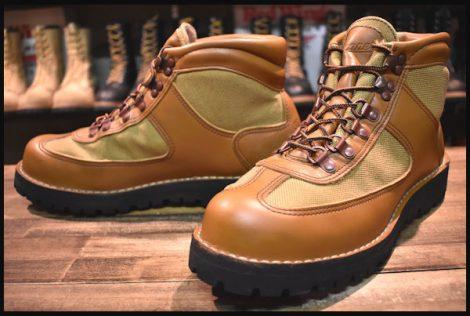 【10EE 美品 白タグ】Danner ダナー フェザーライト ブーツ 20915X 茶 ブラウン ゴアテックス ベージュ HOPESMORE