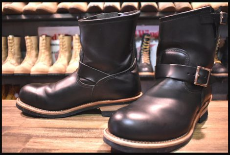 【10D 美品】レッドウィング 2976 ショート エンジニア ブーツ 黒 ブラック クローム スチールトゥ 14年製 redwing HOPESMORE