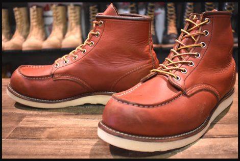 【10D 良品】レッドウィング 8131 アイリッシュセッター ブーツ 赤茶 オロラセット モックトゥ 10年製 redwing HOPESMORE