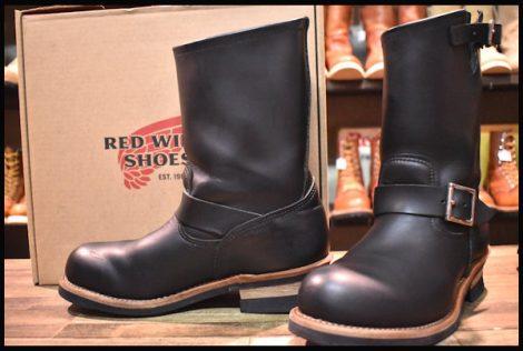 【箱付 美品】レッドウィング 2268 エンジニア ブーツ 黒 ブラック クローム スチールトゥ 17年製 8D redwing HOPESMORE