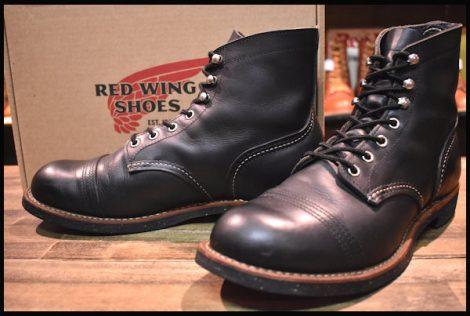 【9D 箱付 良品】レッドウィング 8114 アイアンレンジ ブーツ 黒 ブラック ハーネス キャップトゥ 14年製 redwing HOPESMORE