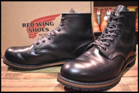 【9D 箱付 美品】レッドウィング 9014 ベックマン ブーツ 黒 ブラック フェザーストーン プレーントゥ 14年製 redwing HOPESMORE