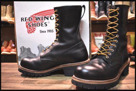 【9D 箱付 良品】レッドウィング 2218 ロガー ブーツ 黒 ブラック クローム スチールトゥ 編み上げ 08年 redwing HOPESMORE