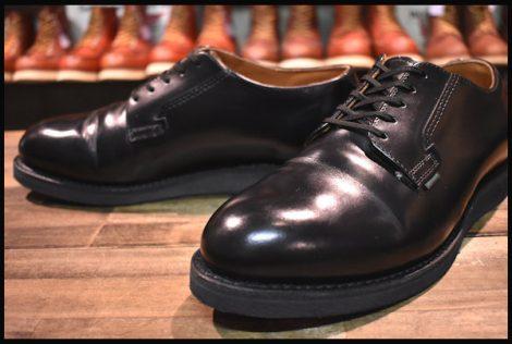 【美品】レッドウィング 101 ポストマン シューズ ブーツ 黒 ブラック シャパラル 18年製 8.5EE redwing HOPESMORE