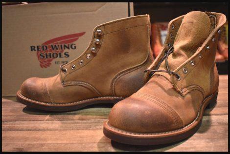 【未使用】レッドウィング 8113 アイアンレンジ ブーツ 茶 ミュールスキナー ラフアウト キャップトゥ 8.5D 08年製 redwing HOPESMORE
