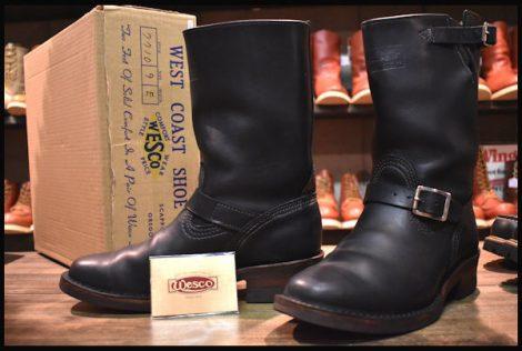 【9E 箱付 良品 限定】WESCO ウエスコ ナローボス エンジニア ブーツ ブラック 黒 10インチハイト 10年製 BOSS HOPESMORE