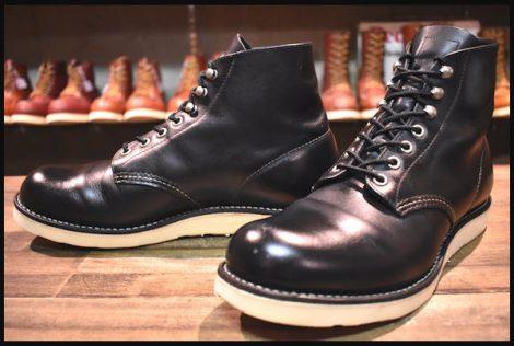 【9D 良品】レッドウィング 8165 アイリッシュセッター ブーツ 黒 ブラック クローム プレーントゥ 10年製 redwing HOPESMORE