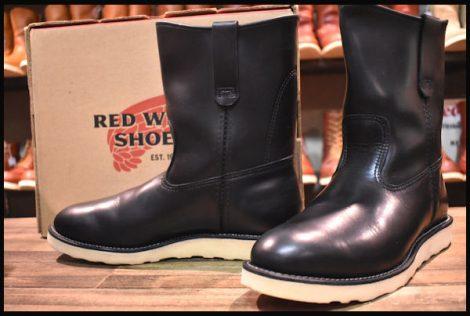 【箱付 美品】レッドウィング 8169 ペコス ブーツ 黒 ブラッククローム 11年製 8E redwing pecos HOPESMORE