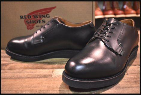 【6 E2 箱付 美品】レッドウィング 101 ポストマン シューズ ブーツ 黒 ブラック シャパラル 短靴 15年製 redwing HOPESMORE