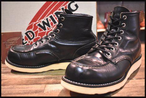 【箱付 良品 羽タグ】レッドウィング 8179 アイリッシュセッター ブーツ 黒 ブラッククローム 02年 7.5E redwing 8130 HOPESMORE