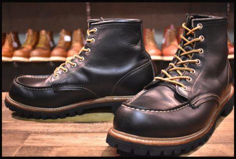 【10E 良品 犬タグ】レッドウィング 8176 ビブラム アイリッシュセッター ブーツ 黒 ブラッククローム モックトゥ redwing HOPESMORE