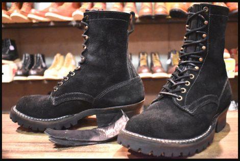 【9F 良品】WHITE'S ホワイツ スモークジャンパー ブーツ 黒 ブラックラフアウト 8インチハイト ビブラム100シングル HOPESMORE