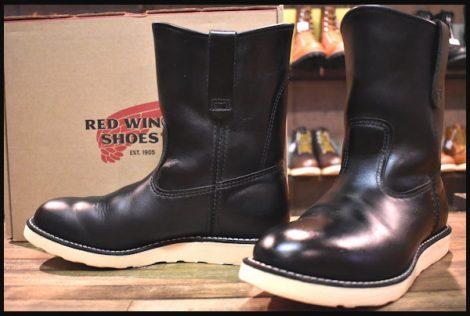 【箱付 良品】レッドウィング 8169 ペコス ブーツ 黒 ブラッククローム 13年製 redwing pecos 8E HOPESMORE