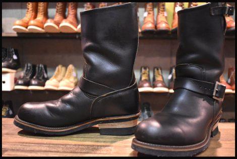 【良品 PT91刺繍タグ】レッドウィング 2268 エンジニア ブーツ 黒 ブラック クローム スチールトゥ 8D redwing HOPESMORE