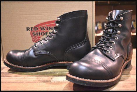 【箱付 美品】レッドウィング 8080 アイアンレンジ ブーツ 黒 ブラッククローム キャップトゥ 17年製 7.5E redwing HOPESMORE