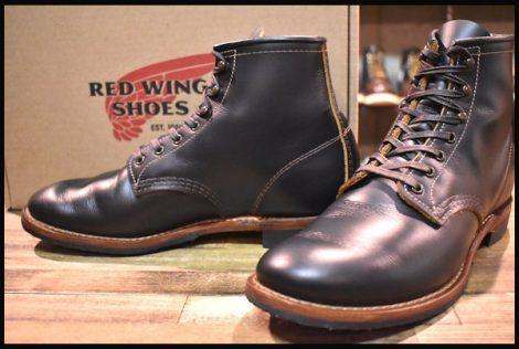 【箱付 美品】レッドウィング 9060 ベックマン ブーツ ブラッククローンダイク 黒 茶芯 フラットボックス 19年 7.5D redwing HOPESMORE