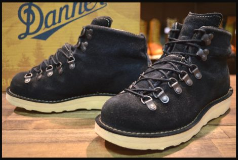 【箱付 良品 白タグ】Danner ダナー マウンテンライト スエード ブーツ 30910X 黒 ブラック ゴアテックス 7EE HOPESMORE