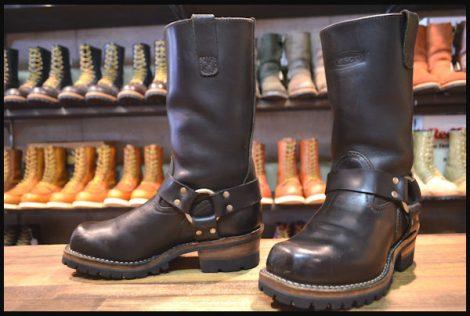 【良品】WESCO ウエスコ ハーネス ボス エンジニア ブーツ 黒 ブラック ビブラム100シングル 06年製 7E BOSS HOPESMORE