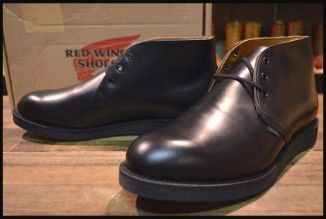 【11D 箱付 未使用】レッドウィング 9196 ポストマン チャッカ ブーツ 黒 ブラック シャパラル 13年製 短靴 redwing HOPESMORE