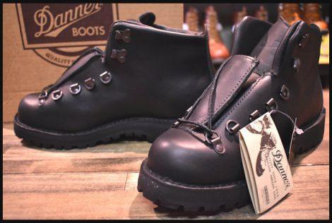 【箱付 DEAD 白タグ】Danner ダナー マウンテンライト ブーツ 31520X 黒 ブラック ゴアテックス 8.5EE 未使用 HOPESMORE