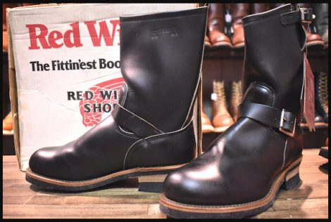 【9D 箱付 DEAD PT91プリント 94年4月刻印】レッドウィング 2268 エンジニア ブーツ 黒 ブラック クローム スチールトゥ redwing HOPESMORE