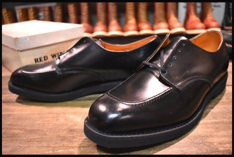 【11.5E 箱付 DEAD 旧羽タグ】レッドウィング 9335 オックスフォード シューズ ポストマン ブーツ ビンテージ 黒 redwing 70'S HOPESMORE