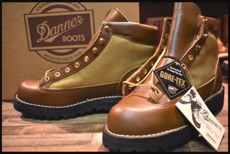 【9EE 箱付 DEAD 白タグ】Danner ダナーライト ブーツ 30420X 茶 ブラウン ゴアテックス GORE-TEX 未使用 HOPESMORE