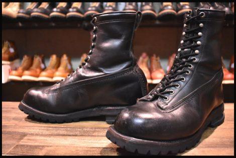 【中古】ChippewaOEM チペワOEM SWATBOOTS スワット ブーツ 黒 ブラック LTT 編み上げ 8.5D HOPESMORE