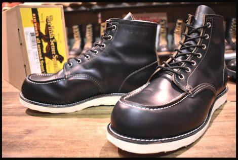【12E 美品】レッドウィング 9874 クローンダイク アイリッシュセッター ブーツ 黒 ブラック モックトゥ 13年製 redwing HOPESMORE