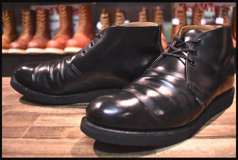 【9.5D 旧羽タグ 90年 良品】レッドウィング 9196 ポストマン チャッカ ブーツ 黒 ブラック シャパラル 短靴 redwing HOPESMORE