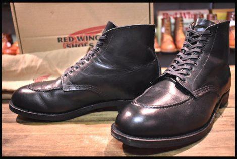 【9.5D 箱付 良品】レッドウィング 9090 ジラード ブーツ 黒 ブラック フェザーストーン モックトゥ 15年製 redwing HOPESMORE