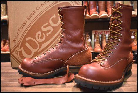 【箱付 良品】WESCO ウエスコ カスタムジョブマスター LTT ブーツ レッドウッド 10インチハイト 8.5EEE ビブラム100 14年製 HOPESMORE