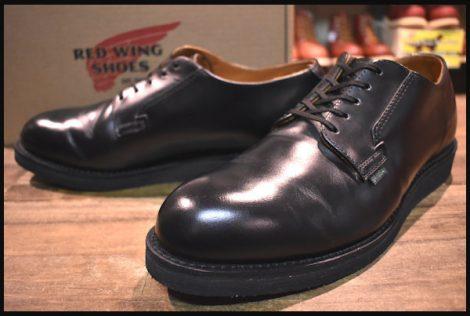 【10D 箱付 美品】レッドウィング 101 ポストマン シューズ ブーツ 黒 ブラック シャパラル 短靴 18年製 redwing HOPESMORE