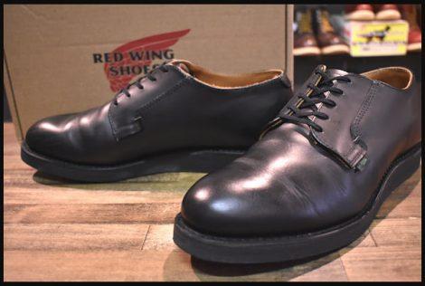 【9.5D 箱付 美品】レッドウィング 101 ポストマン シューズ ブーツ 黒 ブラック シャパラル 短靴 14年製 redwing HOPESMORE