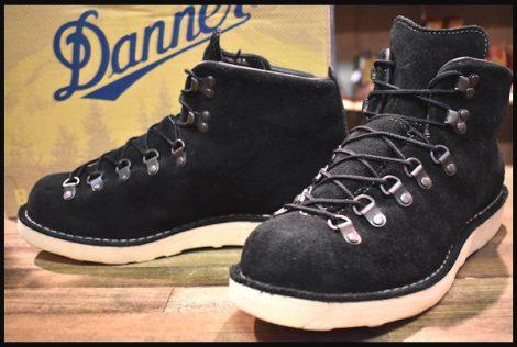 【9EE 箱付 良品 白タグ】Danner ダナー マウンテンライト 黒スエード ブーツ 30910X ブラック ゴアテックス HOPESMORE