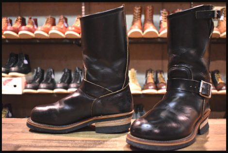 【5D 良品 PT91刺繍 98年】レッドウィング 2268 エンジニア ブーツ 黒 ブラッククローム スチールトゥ redwing HOPESMORE