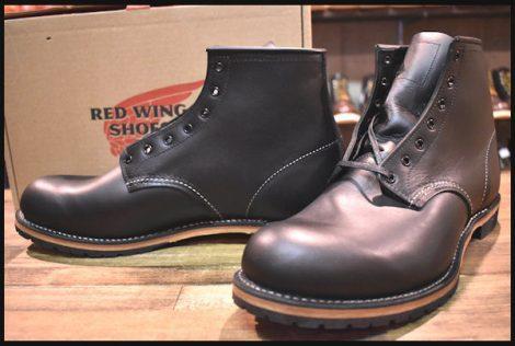 【12D 箱付 未使用】レッドウィング 9014 ベックマン ブーツ 黒 ブラック フェザーストーン プレーントゥ 12年製 redwing HOPESMORE