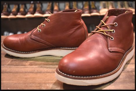 【7D 良品 12年】レッドウィング 3139 クラシック チャッカ ブーツ 赤茶 レッドブラウン redwing HOPESMORE